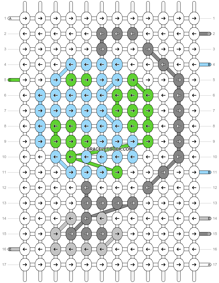 Alpha pattern #75085 pattern