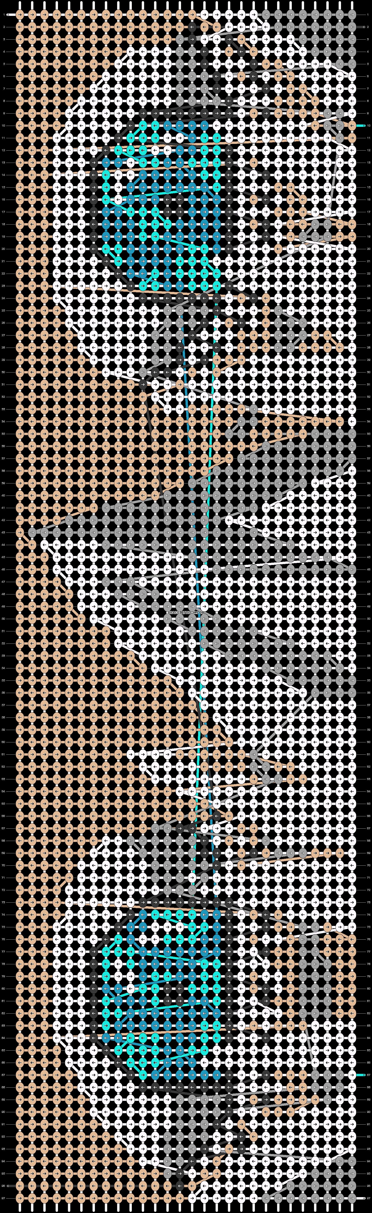 Alpha pattern #75309 pattern