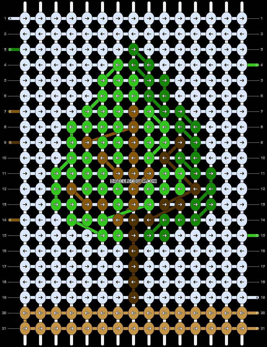 Alpha pattern #76044 pattern