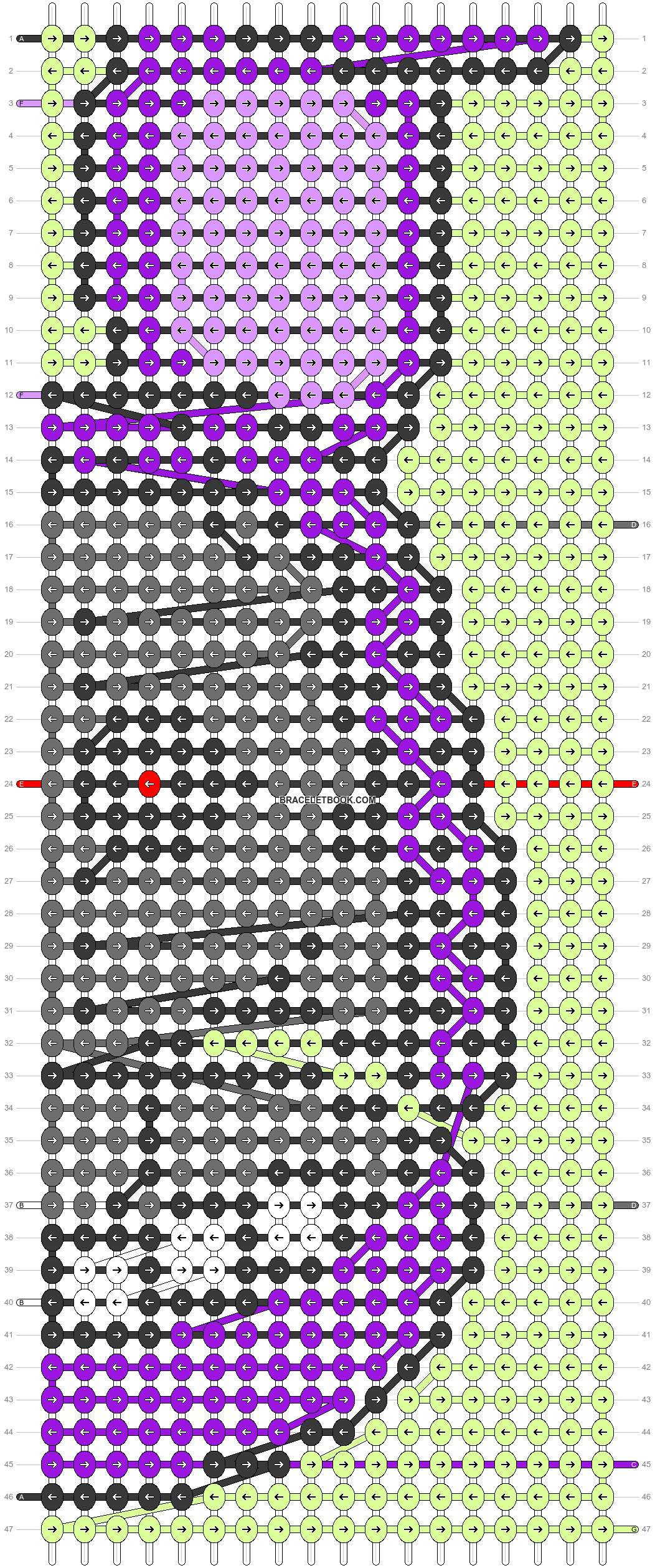 Alpha pattern #76301 pattern