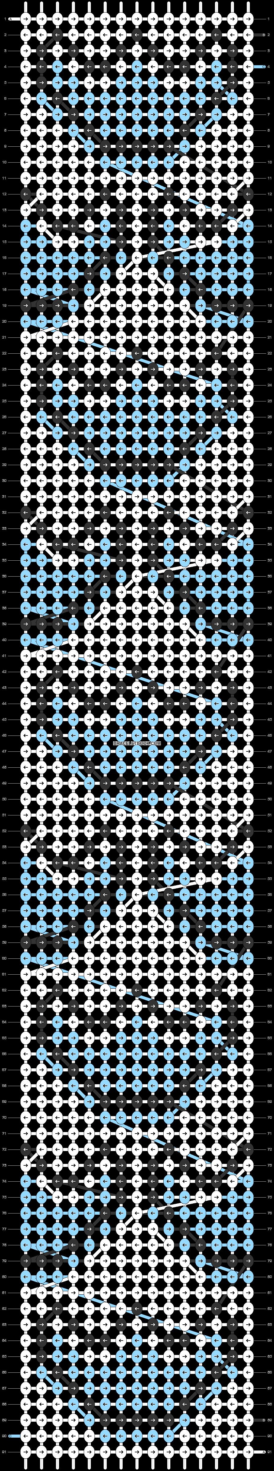 Alpha pattern #81008 pattern