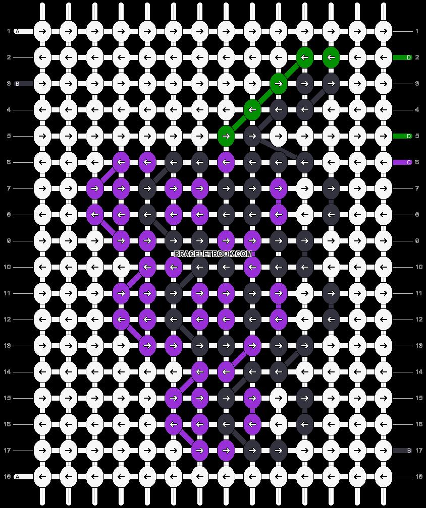 Alpha pattern #83401 pattern