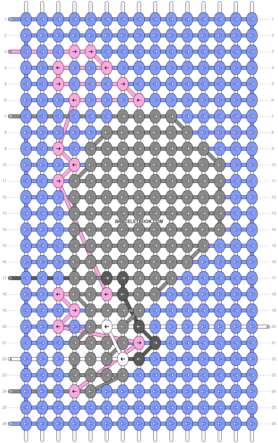 Alpha pattern #84013 pattern