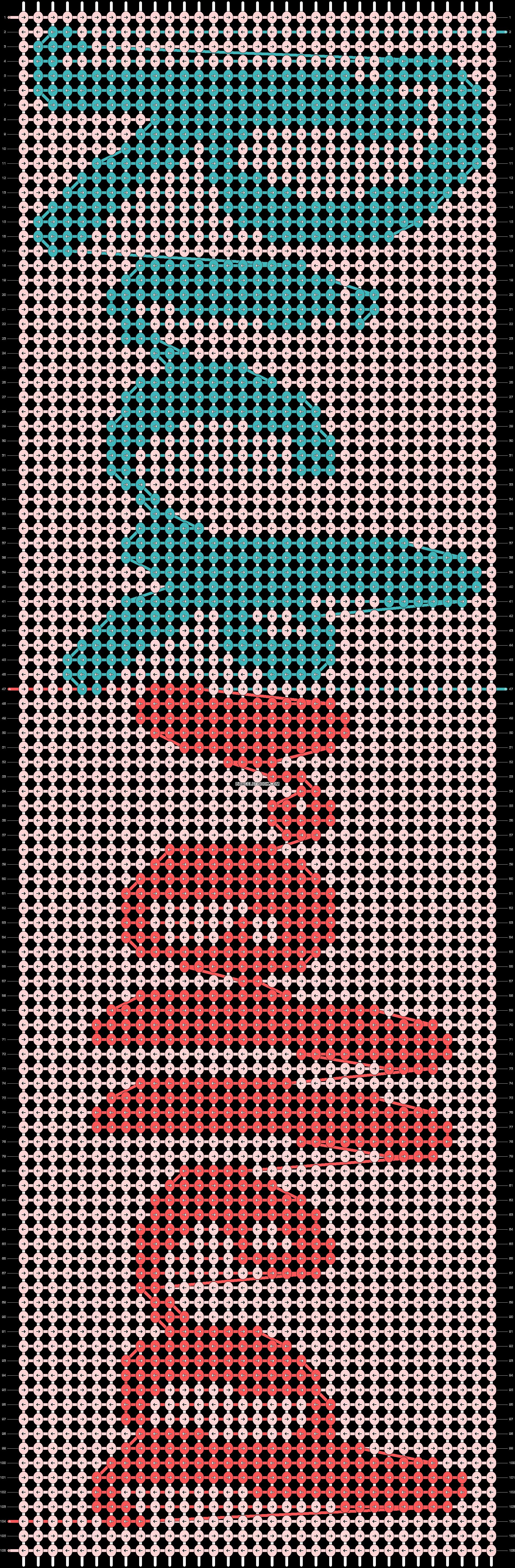 Alpha pattern #86102 pattern