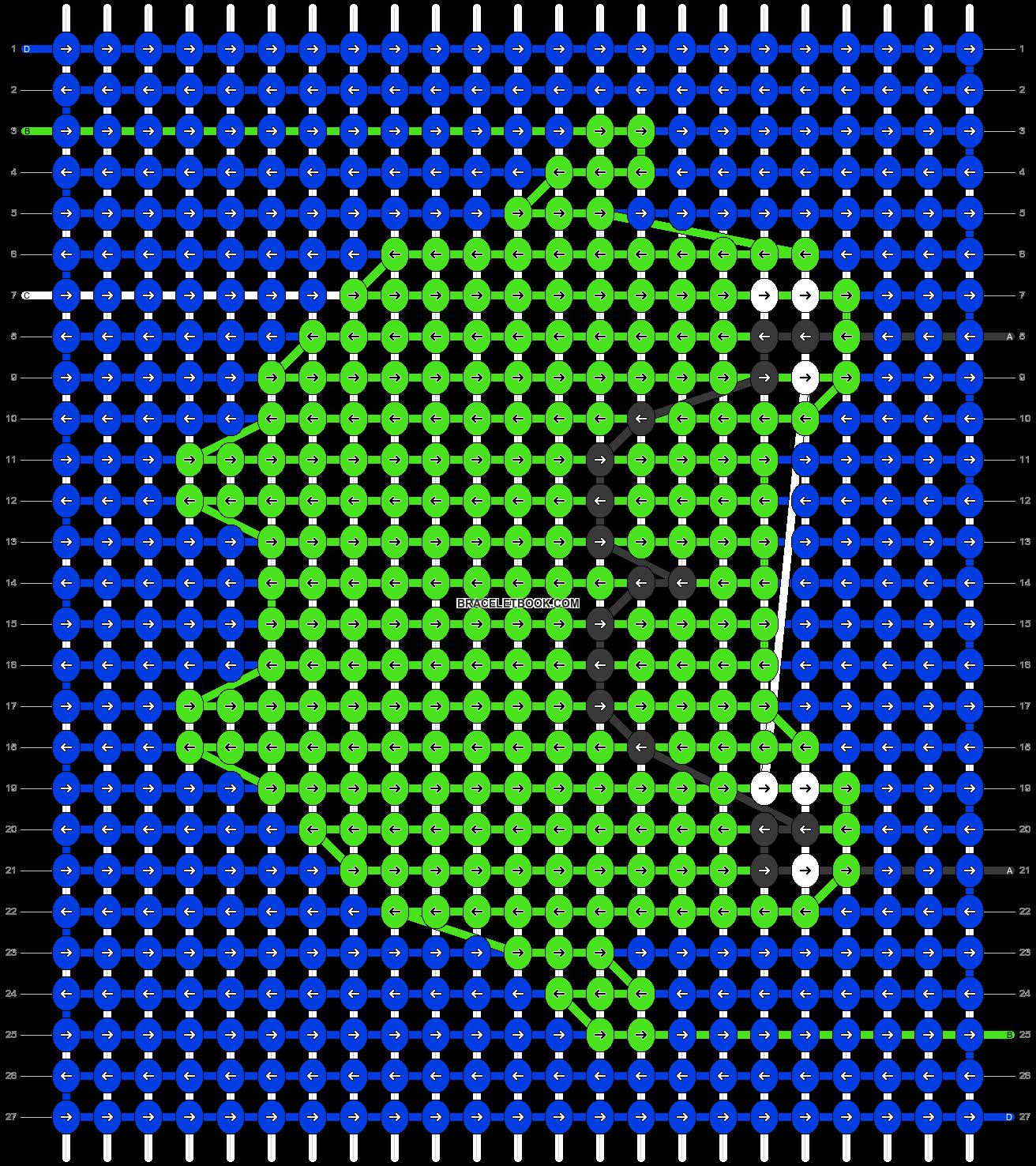 Alpha pattern #86676 pattern