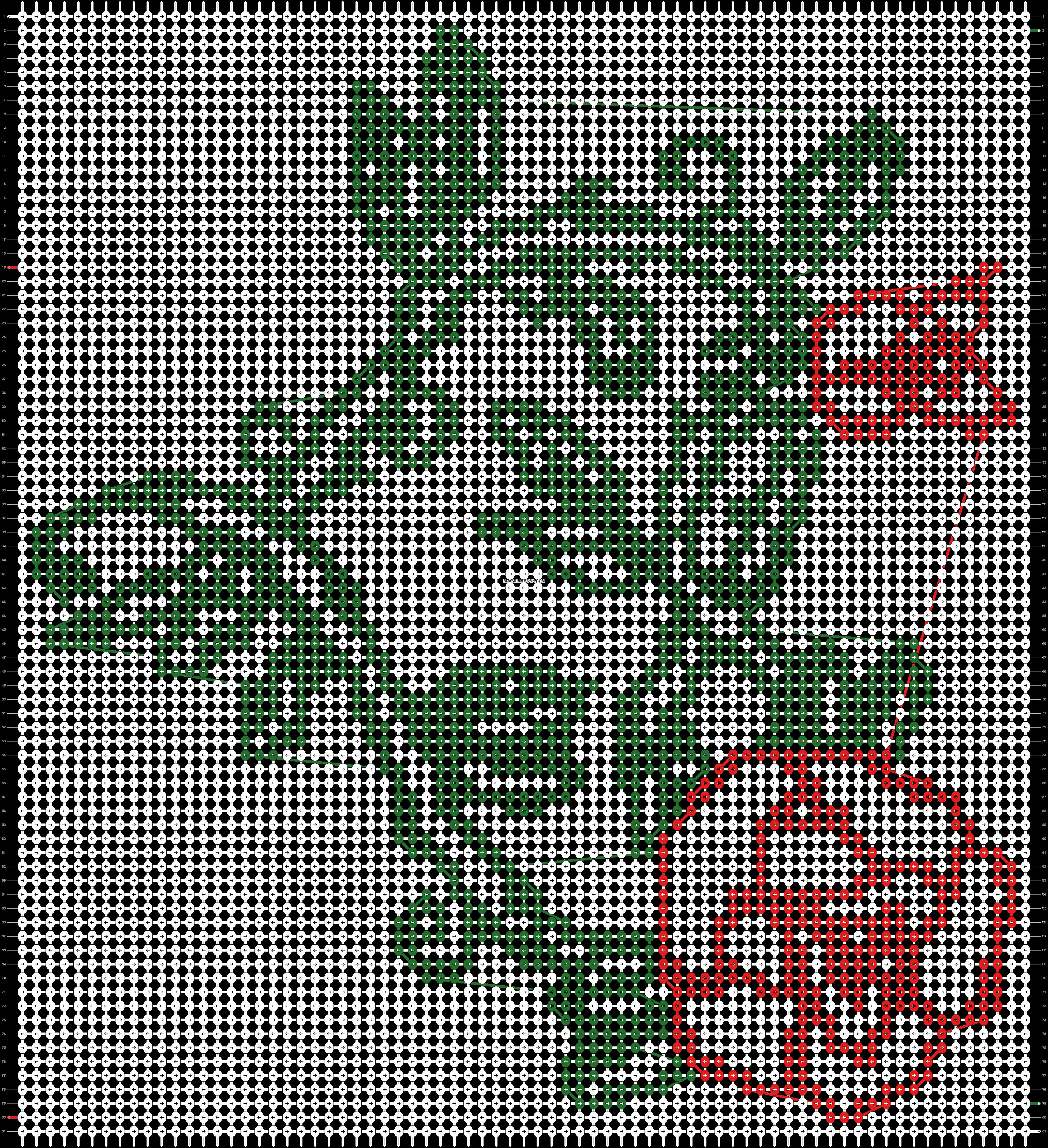 Alpha pattern #86847 pattern