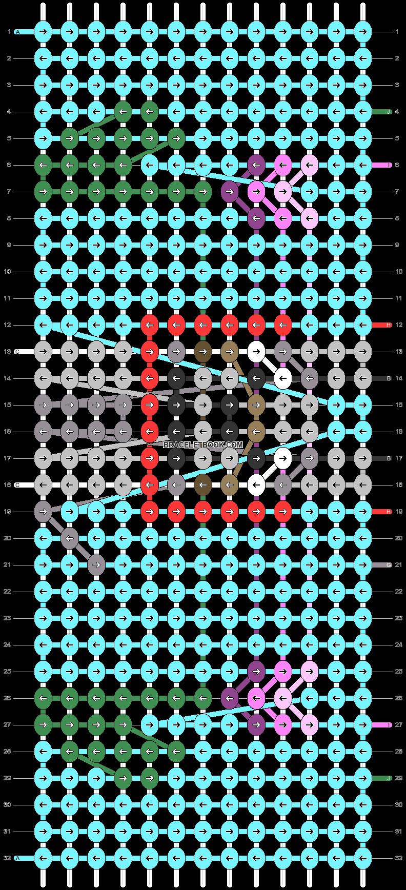 Alpha pattern #87007 pattern