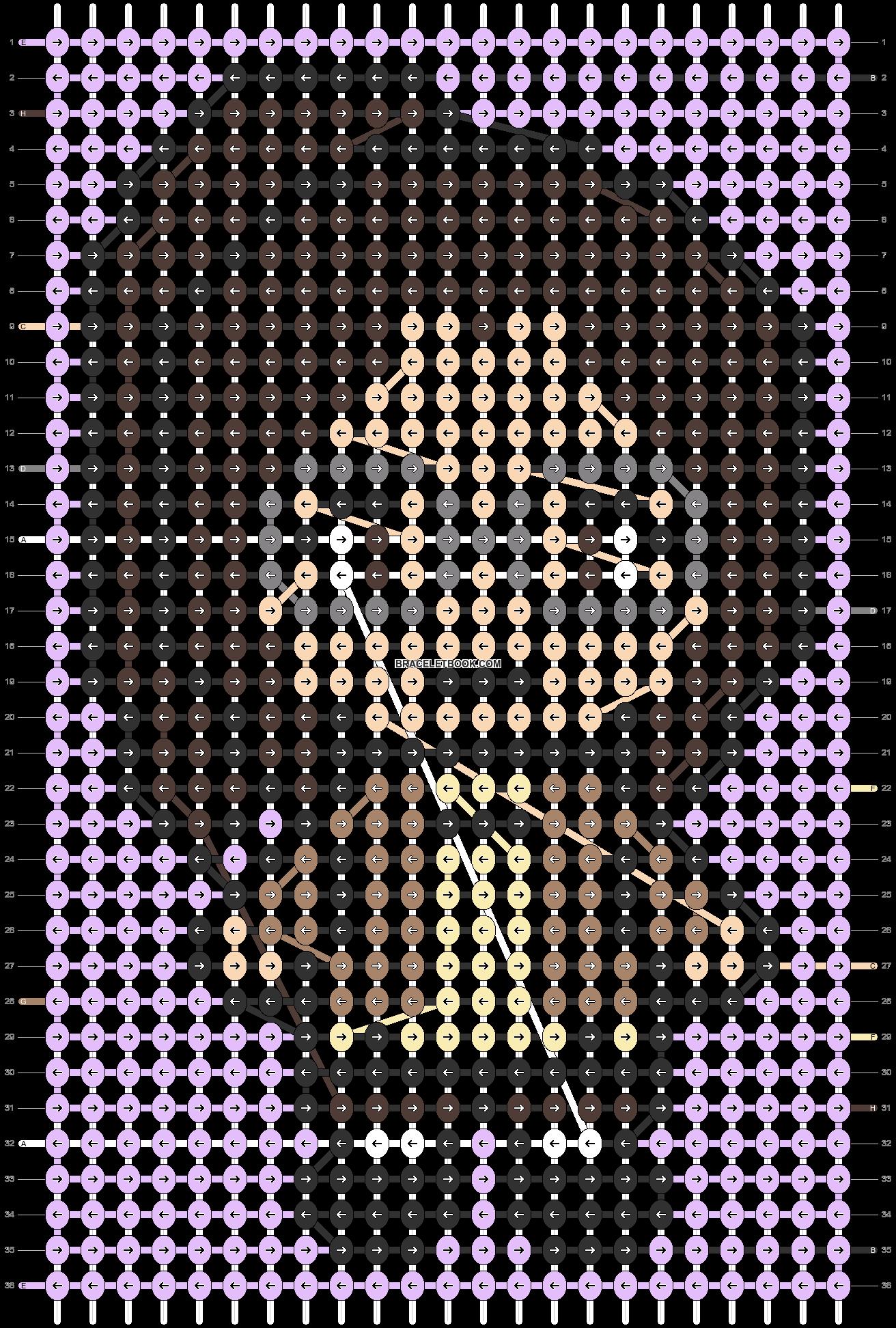 Alpha pattern #87300 pattern