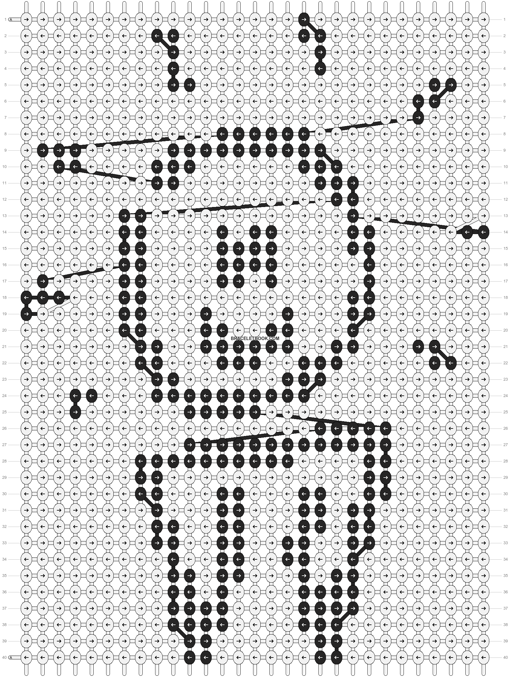 Alpha pattern #89014 pattern