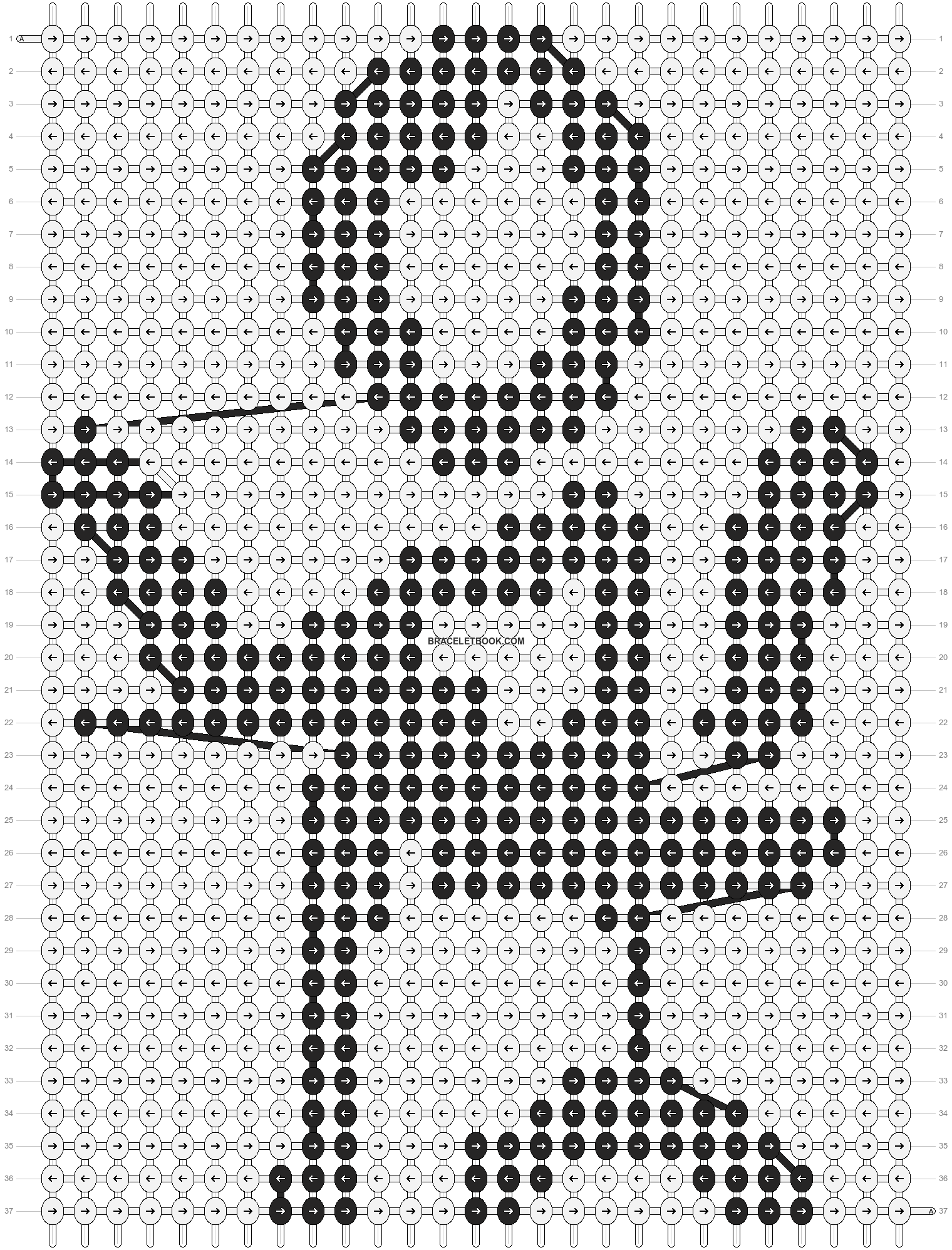 Alpha pattern #89031 pattern