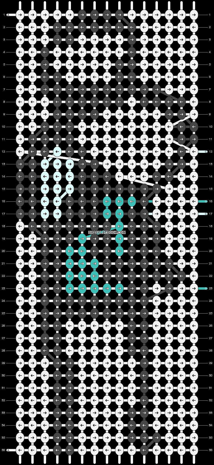 Alpha pattern #89062 pattern