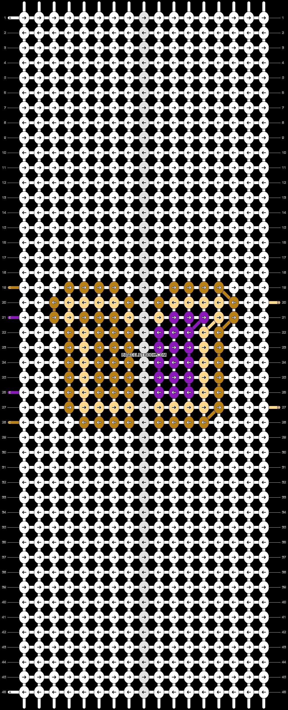Alpha pattern #90004 pattern