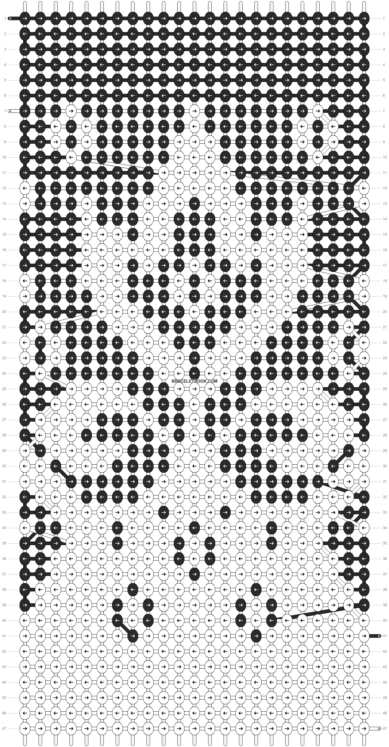 Alpha pattern #90413 pattern