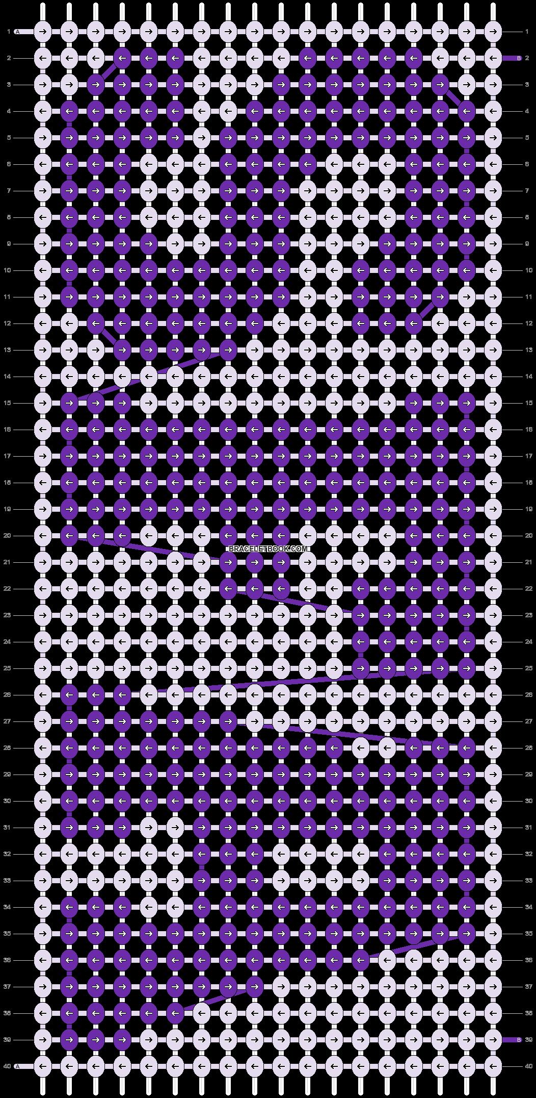 Alpha pattern #90501 pattern