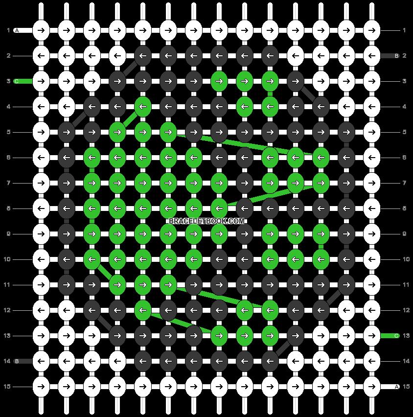 Alpha pattern #91011 pattern