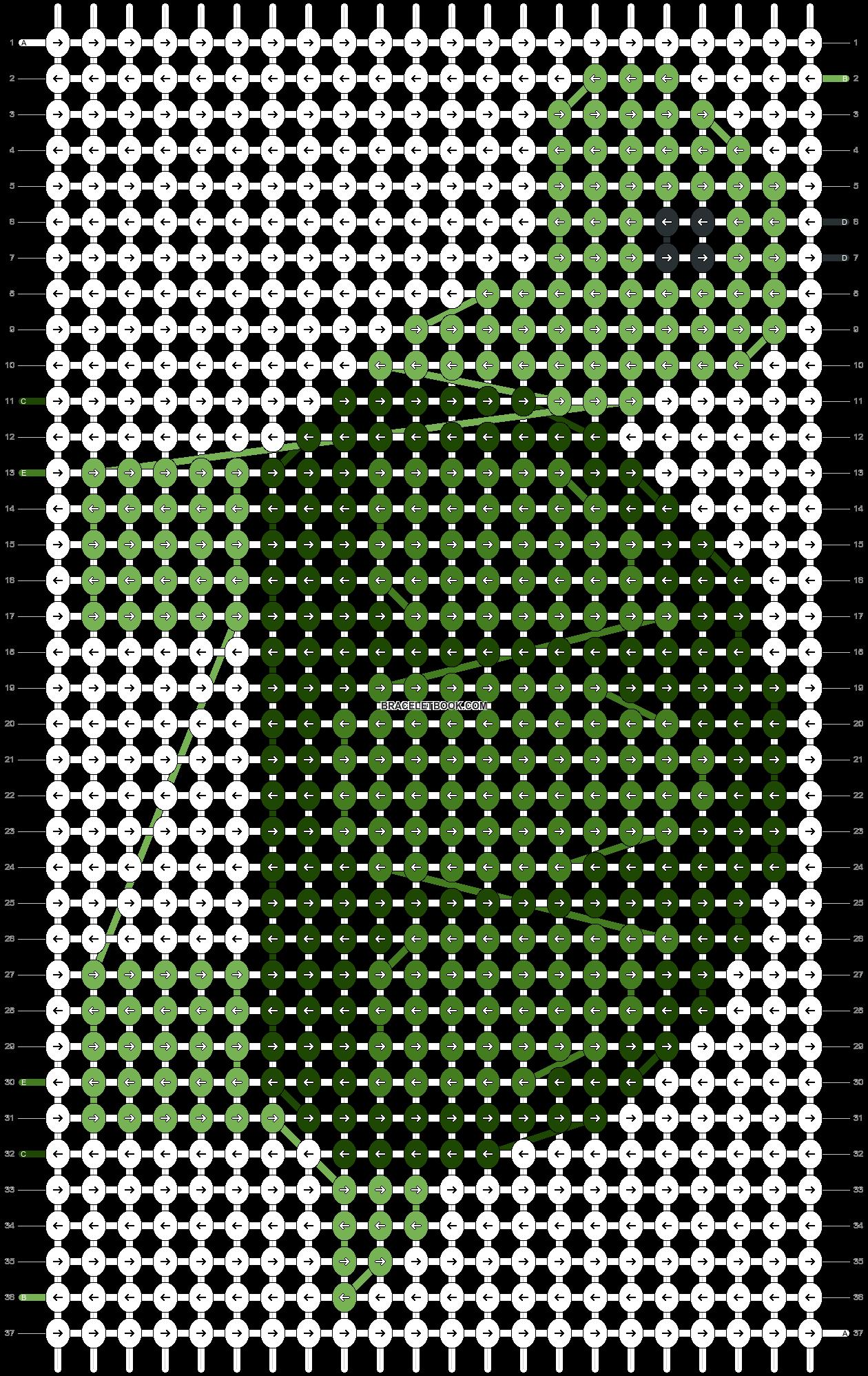 Alpha pattern #91022 pattern