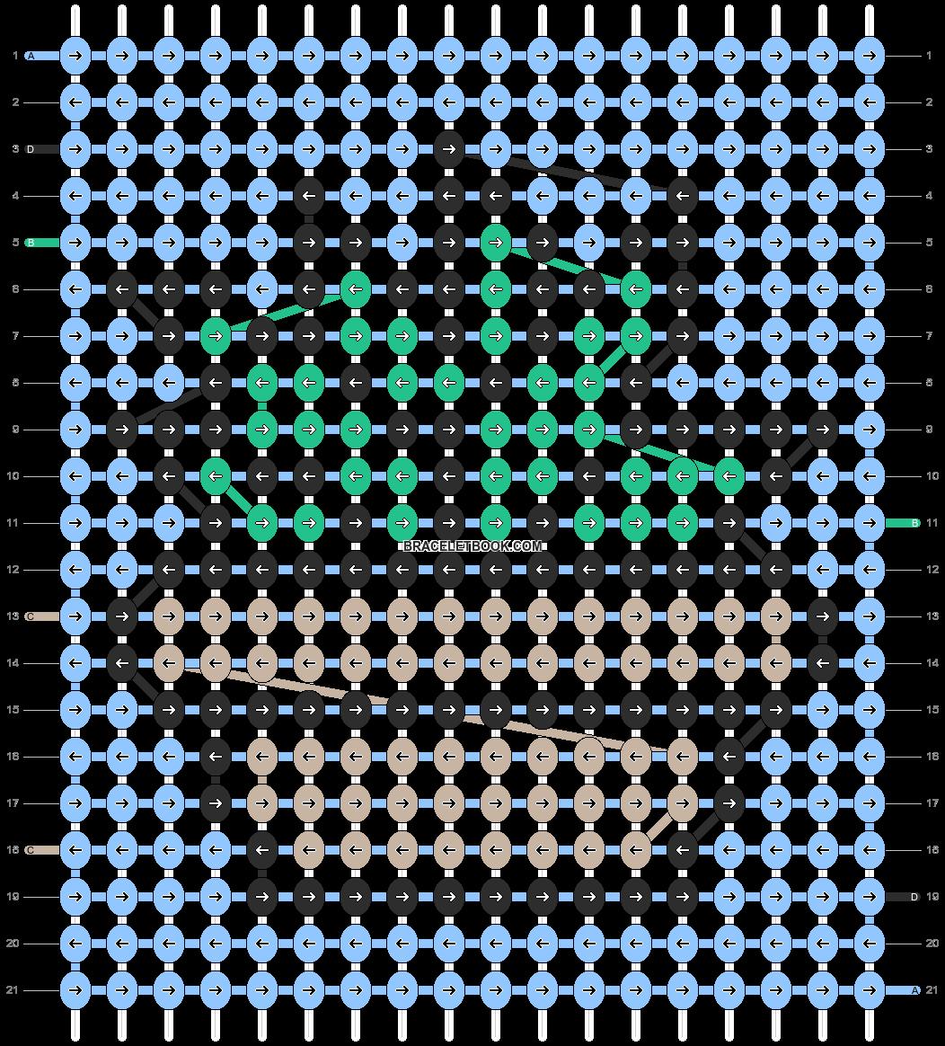 Alpha pattern #92264 pattern