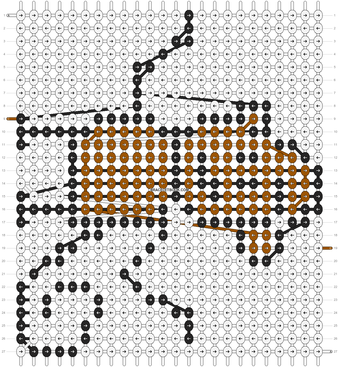 Alpha pattern #93025 pattern