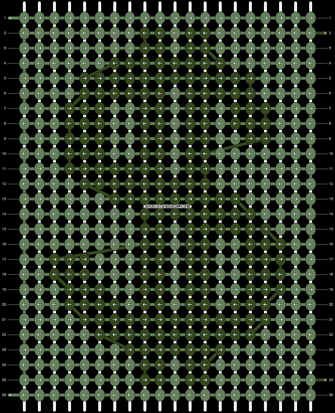 Alpha pattern #93101 pattern