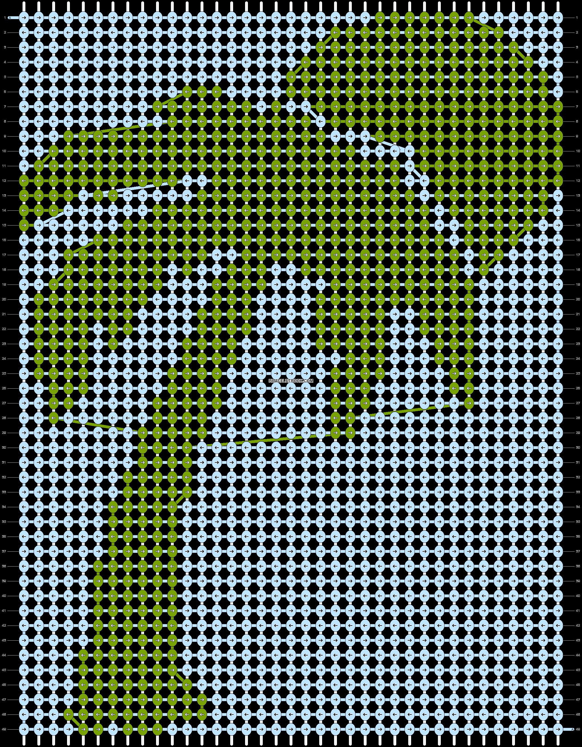 Alpha pattern #93670 pattern