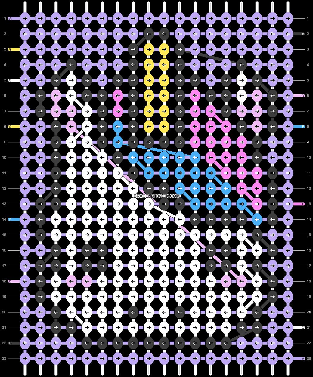 Alpha pattern #94105 pattern