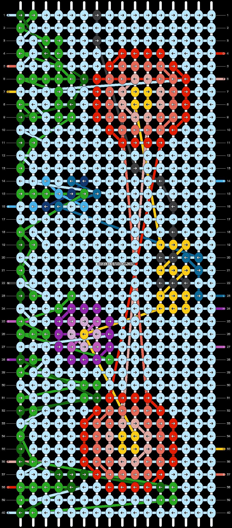 Alpha pattern #104010 pattern