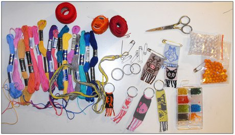 Everything you need for making bracelets