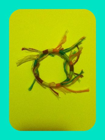 Recycled Embroidery Floss Bracelet - 5.