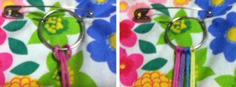 Bracelet that uses less string - Starting a key-ring