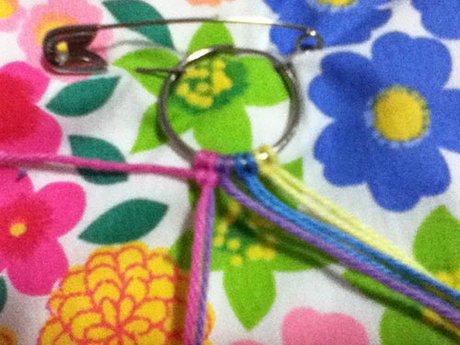 Bracelet that uses less string - Pattern