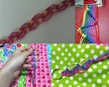 Bracelet that uses less string - Finishing