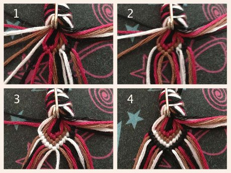 How to start a thicker bracelet (20+ strings)