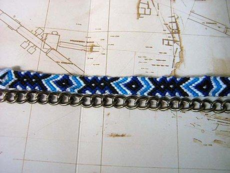 Chain Friendship Bracelet - Step 1