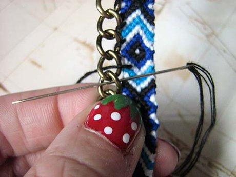 Chain Friendship Bracelet - Step2