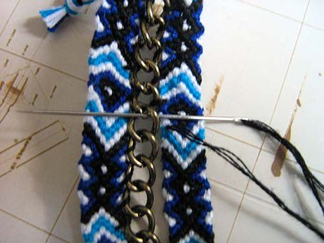 Chain Friendship Bracelet - Step 3