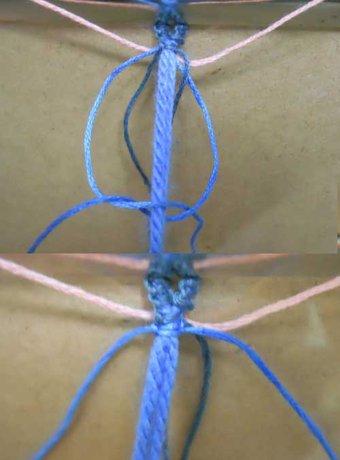 Multicolored macrame bracelets