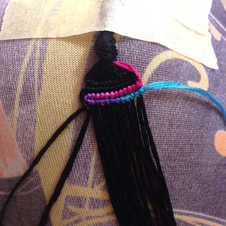 Double wave variegated alpha bracelet