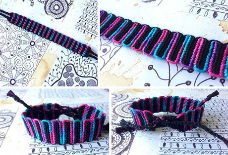 Double wave variegated alpha bracelet