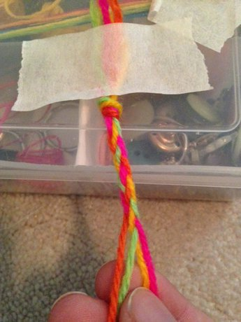 2 Ways to do the 4-Strand Braid - Step 5 (For method 2)