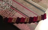 Variegated block bracelet