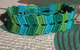 Variegated double block bracelet