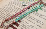 How to make the woven or kumihimo bracelet