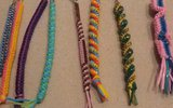 How to make a square knot boondoggle