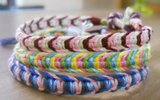 Multicolored macrame bracelets