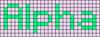 Alpha pattern #696 variation #11323