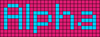 Alpha pattern #696 variation #11333