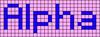 Alpha pattern #696 variation #11575