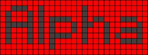 Alpha pattern #696 variation #14288