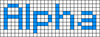 Alpha pattern #696 variation #24705