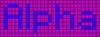 Alpha pattern #696 variation #25944